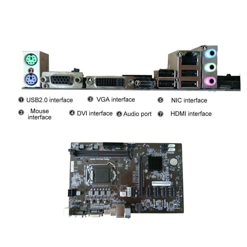Yika H81A-BTC V20 Miner ATX Board LGA1150 H81 Mainboard Support 6 Graphics Card