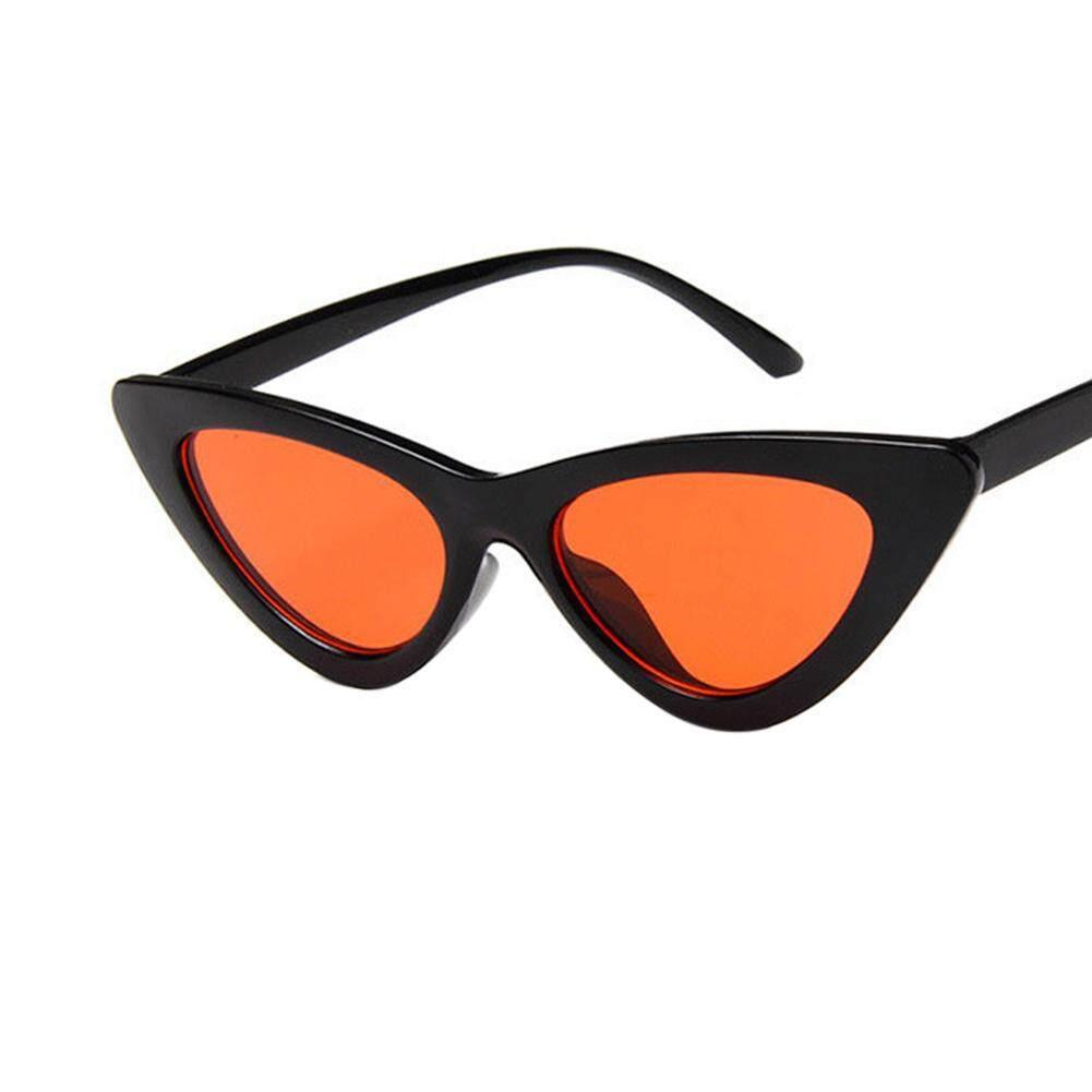 Retro Segitiga Mata Kucing Kacamata Hitam UV400 Bersih Visi Kacamata Kacamata Hari Kasih Sayang Hadiah Lensa