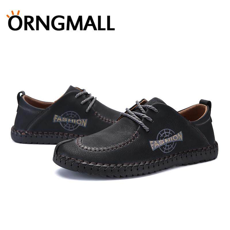 Detail Gambar ORNGMALL New Italian Handmade Shoes Men's Casual Leather Shoes Formal Shoes Loafers Moccasin Flats Shoes Large Size 38-46 Terbaru