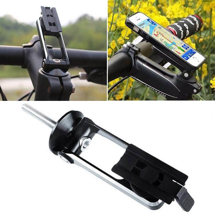 Kerui Universal Sepeda Yang Bisa Disesuaikan Setang Sepeda Penyangga Tepi Ponsel Alumunium Campuran Bersepeda Penyangga iPhone