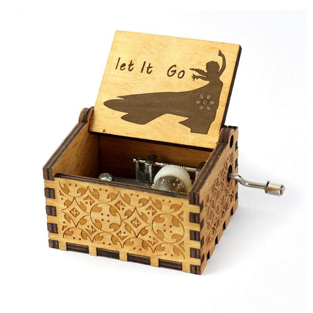 bf71c37694 OutFlety Wooden Handcrafted Carving Square Vintage Music Box Best Christmas  New Year Gift,Birthday Party