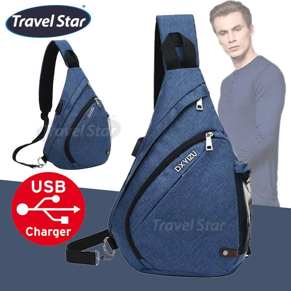Travel Star 0501 Korean Style Premium Shoulder Bag With External Charging USB Port