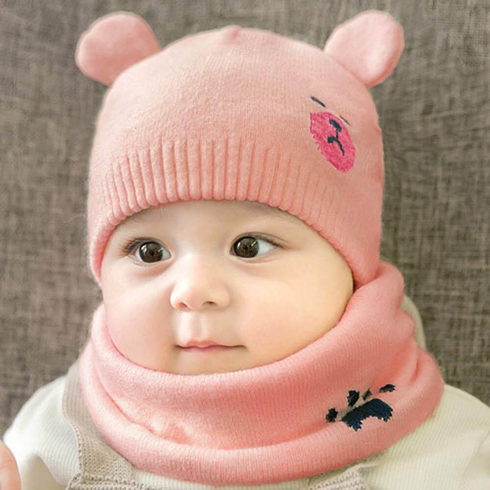 Rp 75.000. Tideshop Bayi Anak Baru Lahir Anak Laki-laki Anak Perempuan Topi  Kartun Hangat Kupluk Renda Rajut ... 84d6f9095a