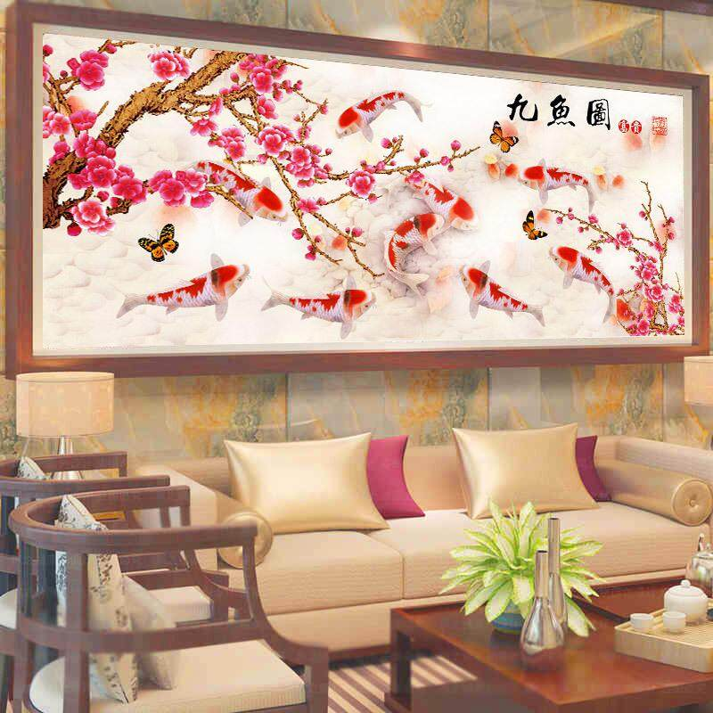 The New 5D Diamond Painting, Full Drill, The Bedroom Entrance Drilling Cross Stitch - (120*50CM) - intl