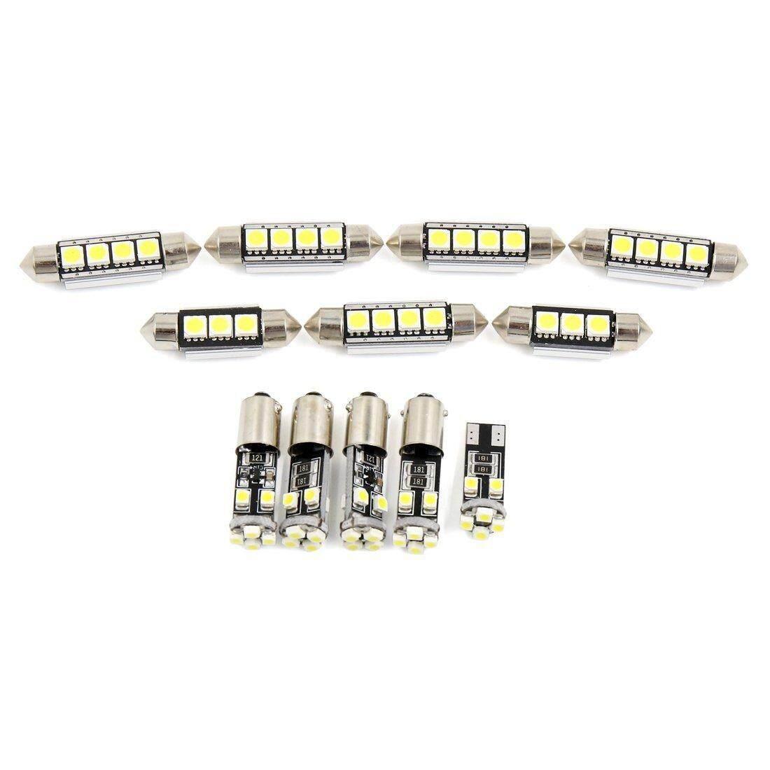 12 Pcs Putih Kubah Mobil Pembaca Peta LED Lampu Interior untuk Audi A3/S3 (