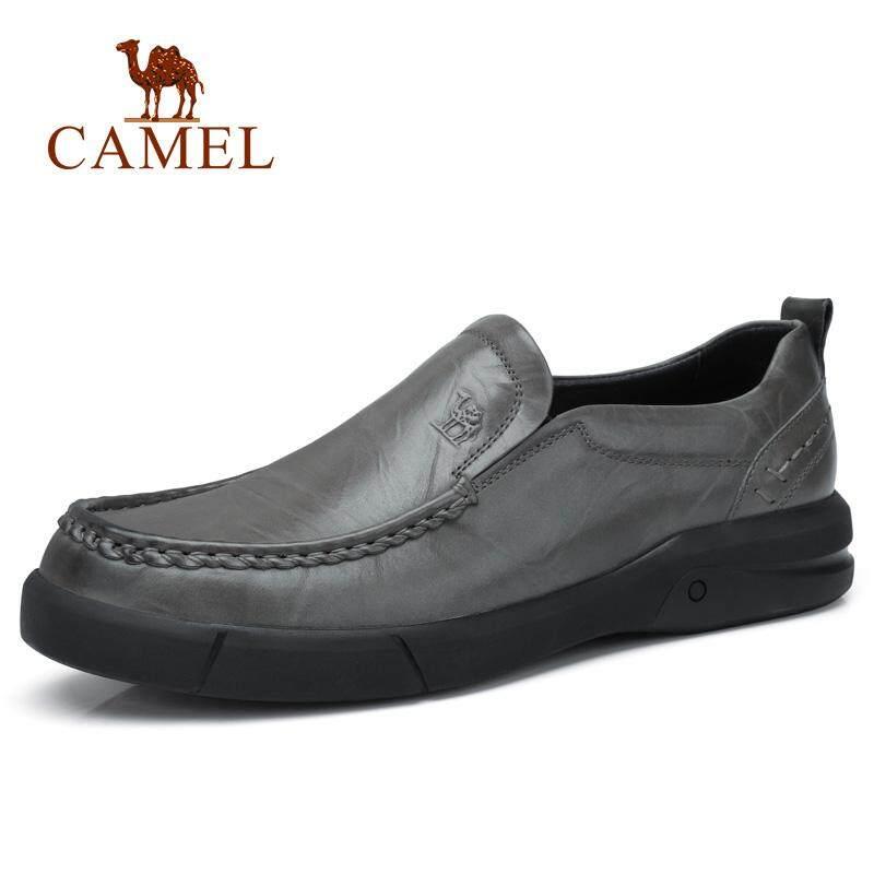 Camel Sepatu Pria 2018 Jatuh Tren Gaya Baru Pria Sepatu Kasual Benar  Penutup Berbahan Kulit Sepatu bbd44c8395