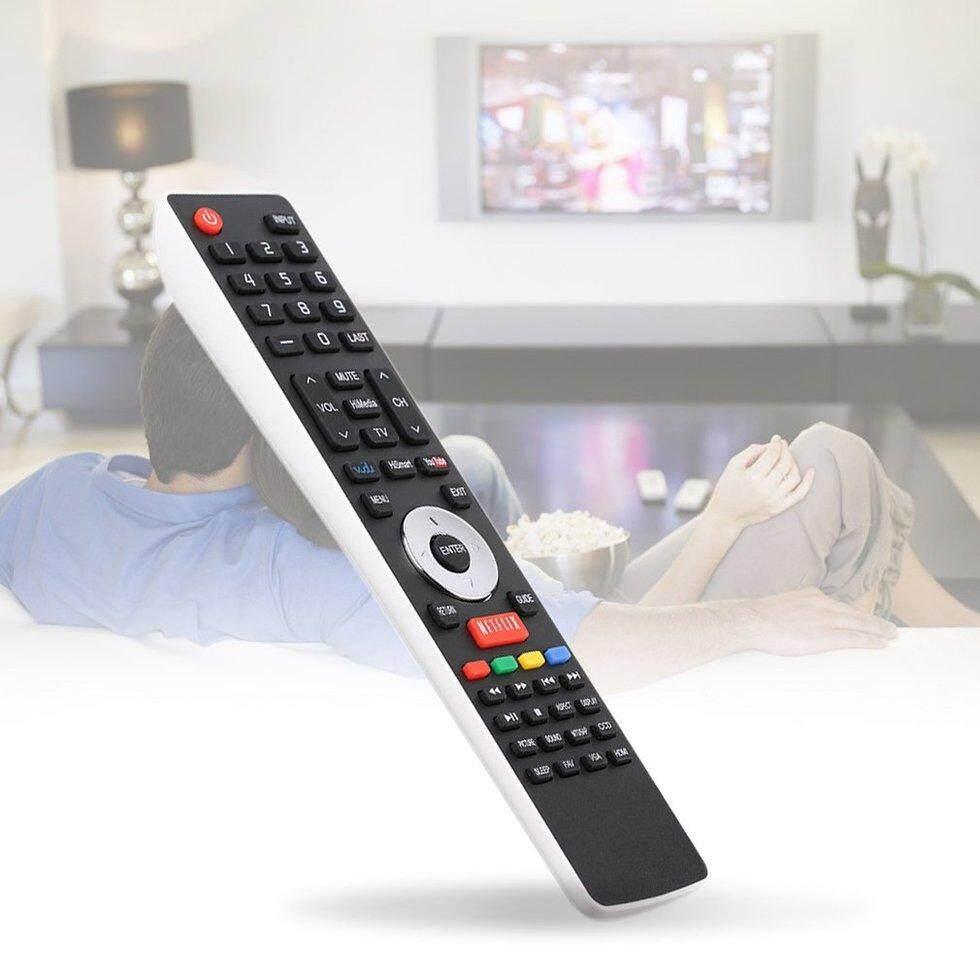 Goft Smart TV Pengendali Jarak Jauh EN-33922A untuk Hisense LCD LED HDTV Hitam dan Putih