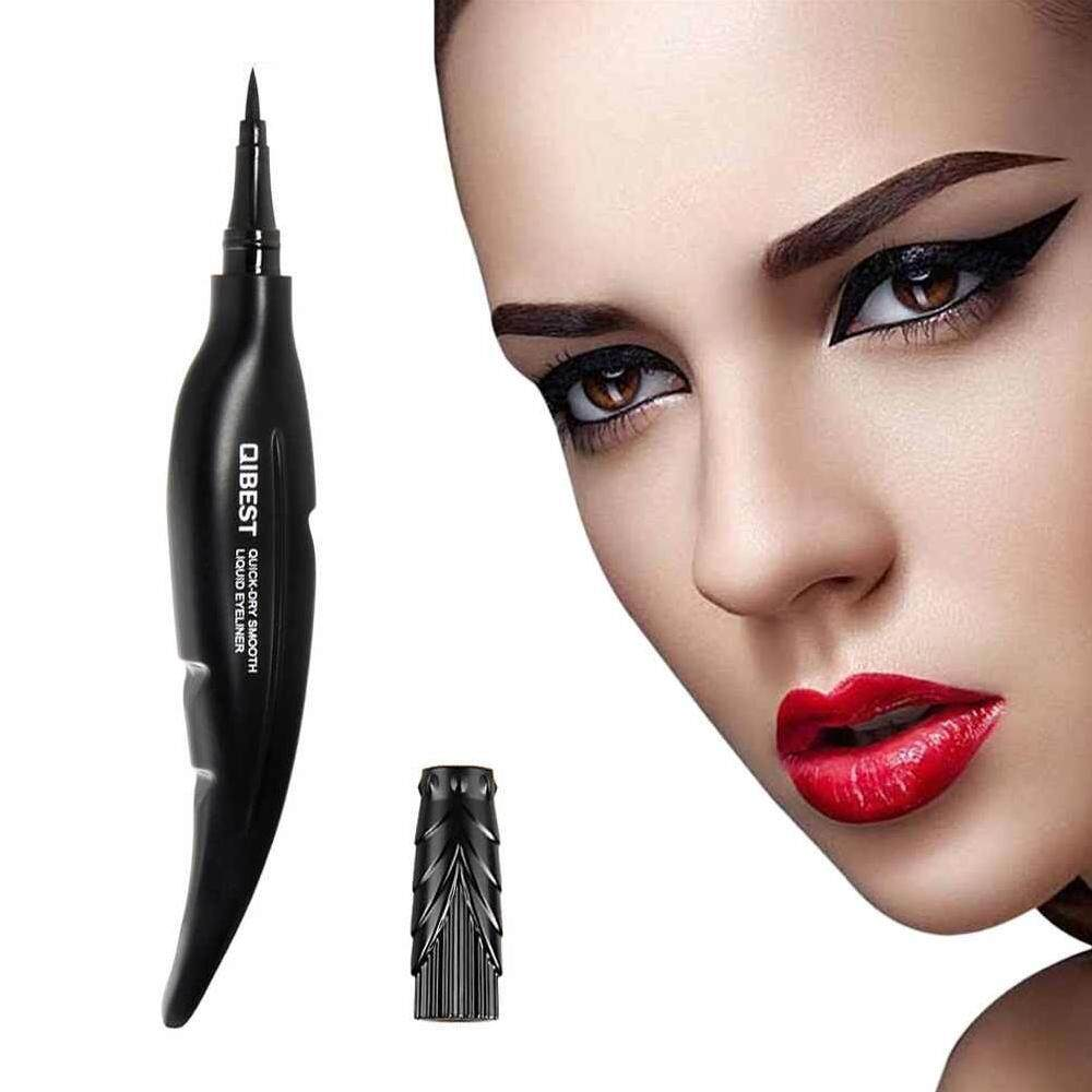 Dongxi 1PCS QIBEST New Feather Liquid Eyeliner Pencils Waterproof Long Lasting Smooth Black Make Up Eye
