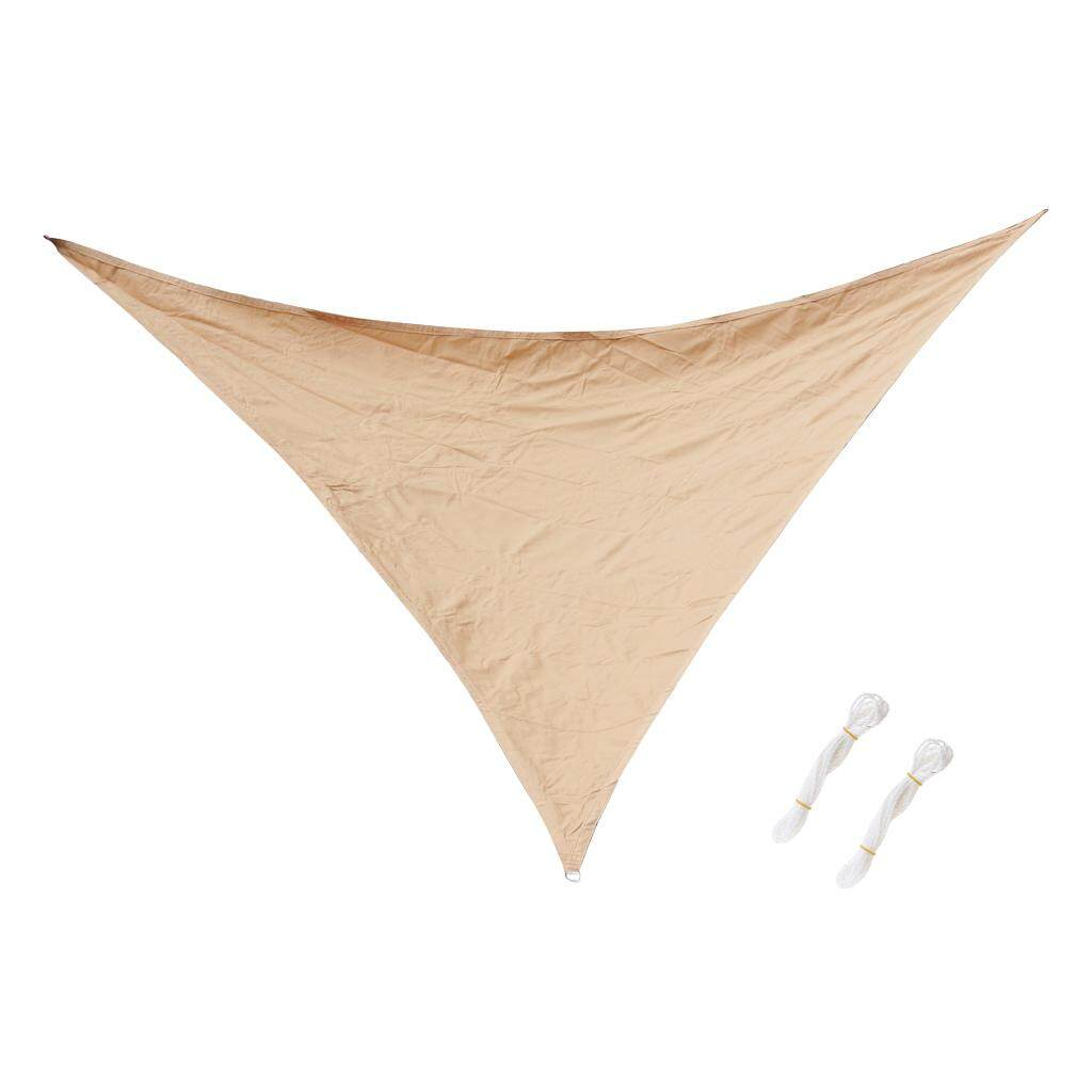 MagiDeal Triangle UV Block Sun Shade Sail Outdoor Garden Pool Deck Khaki 3m