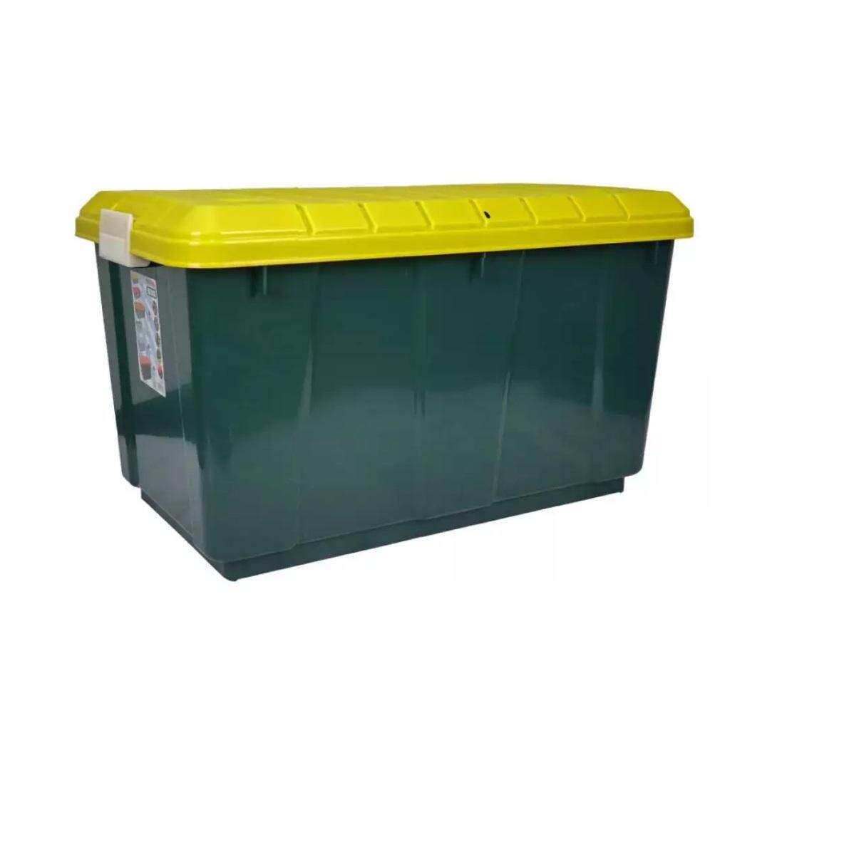 (OW) TOYOGO 87 Series 06 Single-Lid Side-Mount RV Storage Box with wheels - 98 Lit