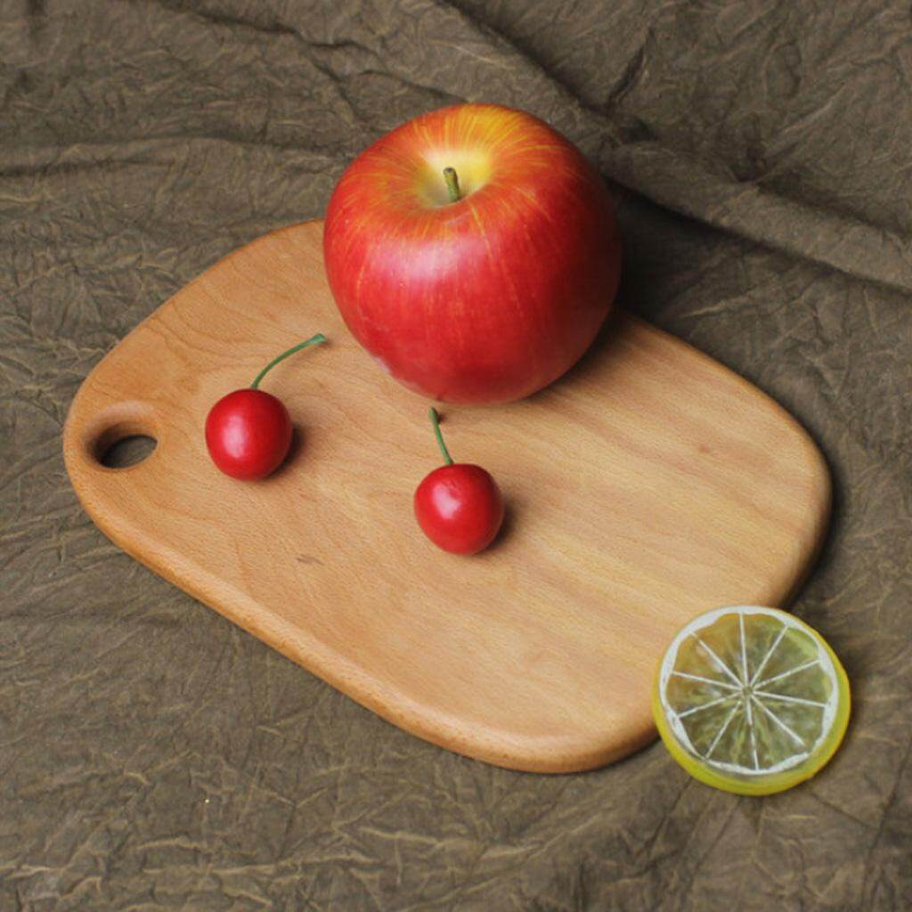 BolehDeals Walnut Chopping Blocks Kitchen Wood Food Plate Wooden Pizza Sushi Fruit Bread Whole Wood Tray Cutting Board No Paint