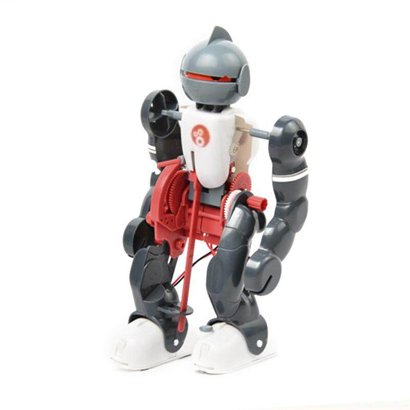 MayLer Store Robot Assembly DIY Robot Durable Toy Robot Red White Simulation Actions Gift