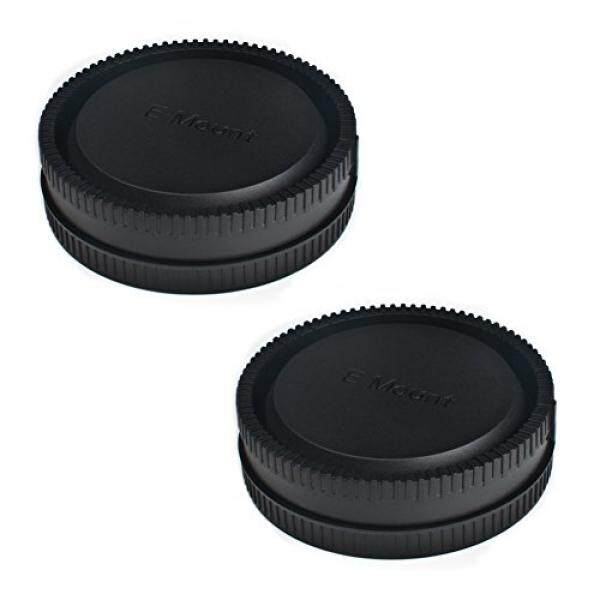 (2 Pack) Front Body Cap & Rear Lens Cap for Sony a6500 a6300 a6000 a5100 a5000 A7SII A7R/S A7RII NEX-5 5R 5N NEX-6 NEX-7 E Mount Camera Body & Lens Replaces Sony ALCB1EM ALCR1EM
