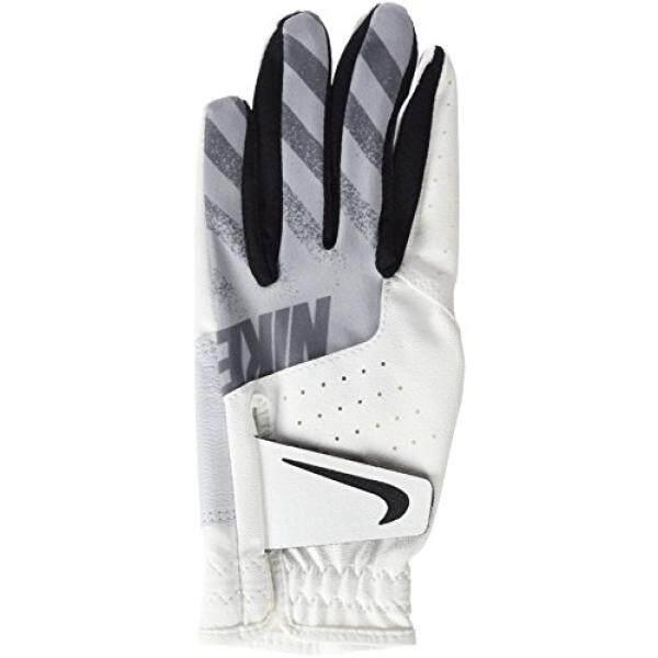 Nike Sport Enhanced Performance and Durability Junior Golf Glove, Left Hand, Young Men Medium, White/Black/Wolf Grey - intl