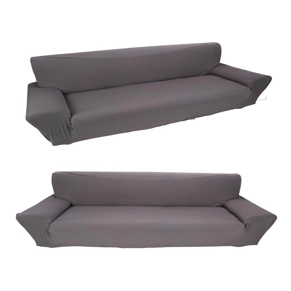 Hot Sale 4 Seater 7 Solid Colors Full Stretch Elastic Sofa Cover Couch Protective Slipcover