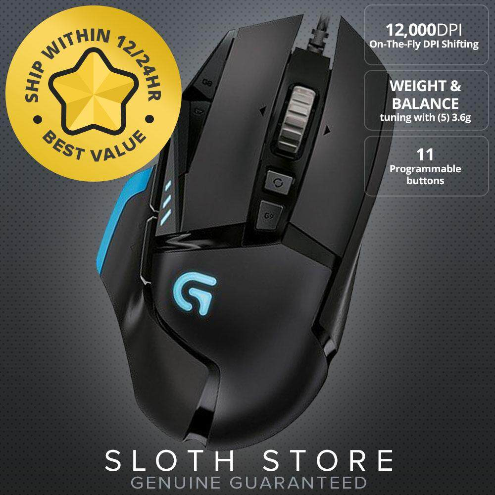 Logitech G502 Proteus Spectrum RGB Tunable Gaming Mouse, 12,000 DPI On-The-Fly DPI Shifting LOW PRICE  FAST DELIVERY Malaysia