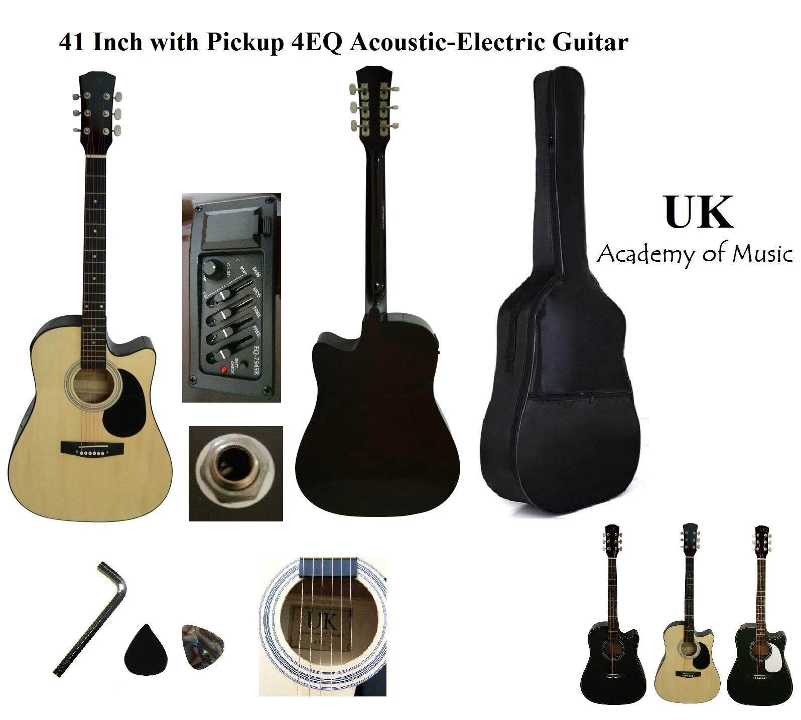 Acoustic Electric Guitars For The Best Prices In Malaysia Pickup Microphone Wire Amplifier Speaker Guitar Black Uk 41 Inch Plugin With 4eq And Pickguard Bag