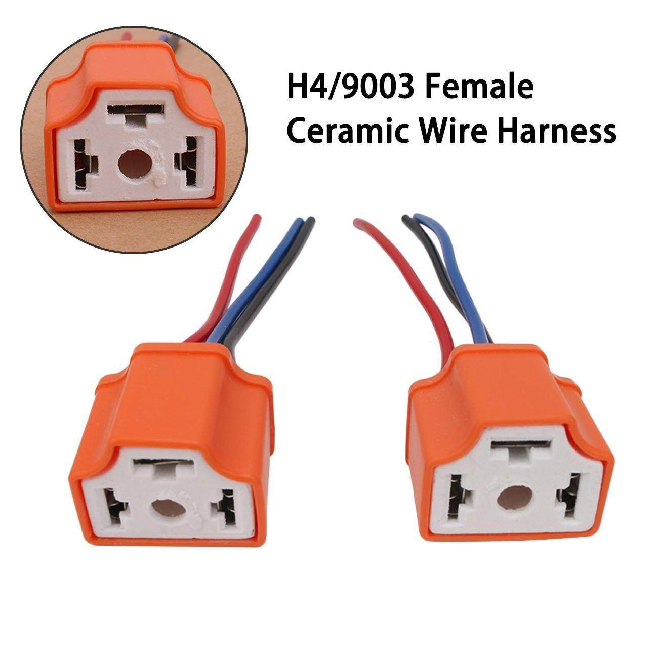 Features Olizard 2pcs H11 H8 Female Head Extension Connector Plug Socket Wiring Dsstyles Ceramic Headlight Wire Adapter For 12v Light Lamp Bulb