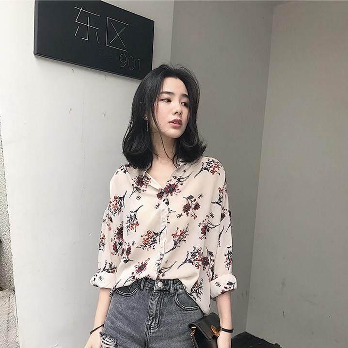 Summer Pack Baju Baru Versi HAN MUDAH 100 Pieces Lengan Panjang Sweter Sifon