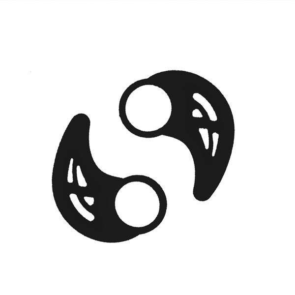 1 Pair of Universal Silicone Earphone Clip Hook Earhook Headphone Ear Hook Hanger (Black)