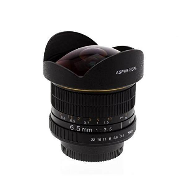 Albinar 6.5 Mm F/3.5 HD Aspherical Lensa Mata Ikan untuk Nikon D60, D90, D300, D300s, d3000, D3100, D3200, D3300 D5000, D5100, D5300, D5500, D7000, D7100-Intl