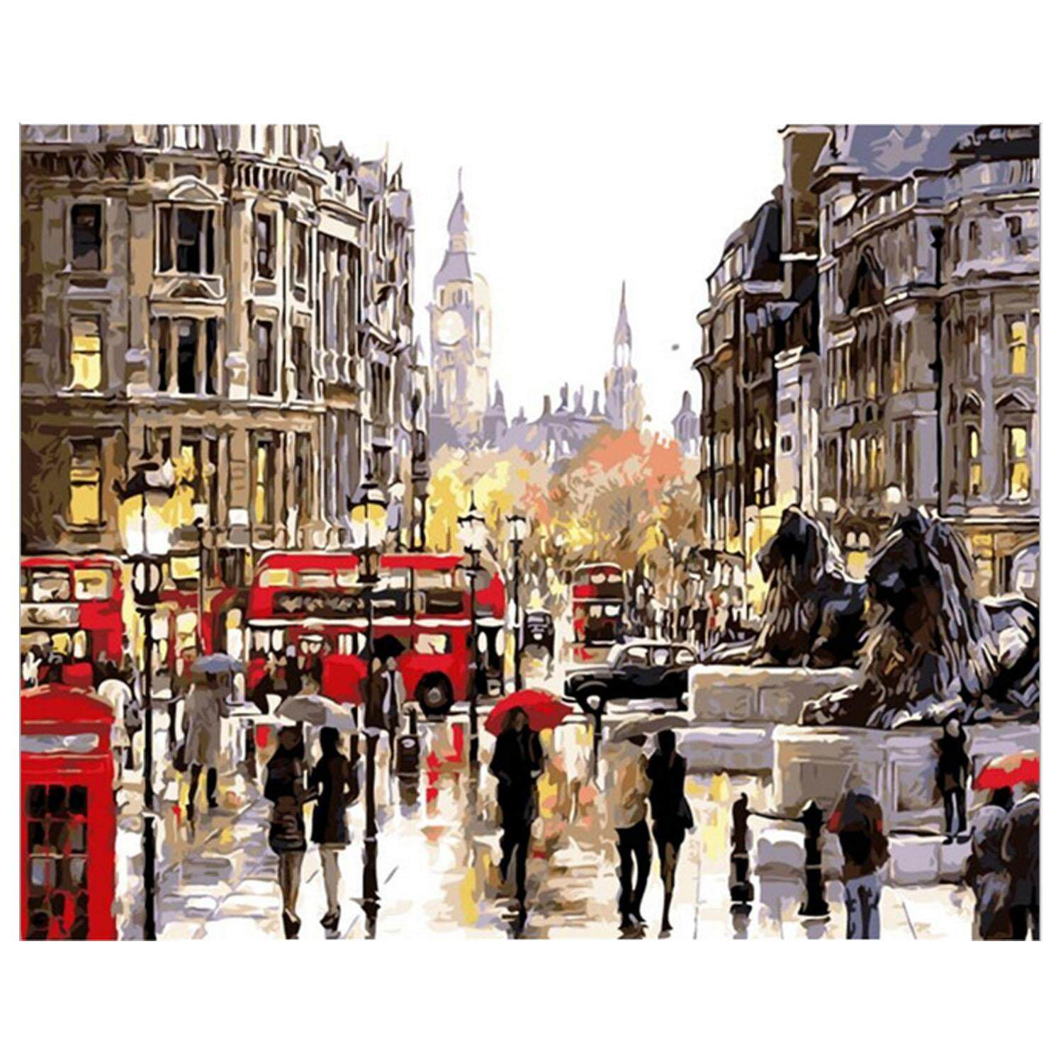 Digital DIY Scenery Oil Painting Coloring By Numbers On Linen Canvas Wall Art Decoration 40 x 50cm