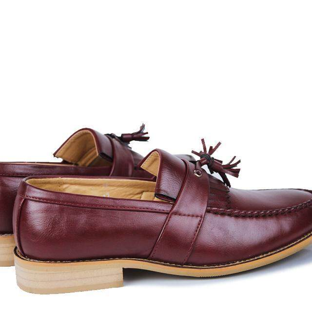 Kailijie Sandal Bakiak Sandal Kulit Pria Rumbai Loafer Gaun Sepatu - 4 .