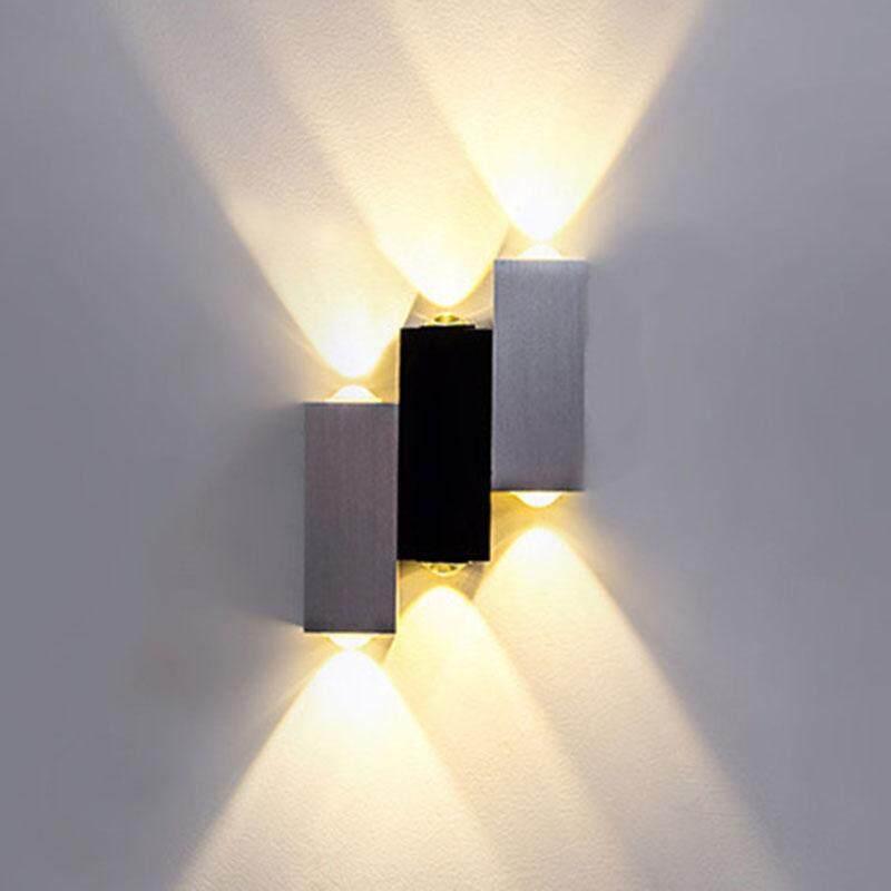 6W 3 Bulbs Creative 3 Color Light Options LED Porch Wall Bedside Light Home Bar Decorative Light#Warm white