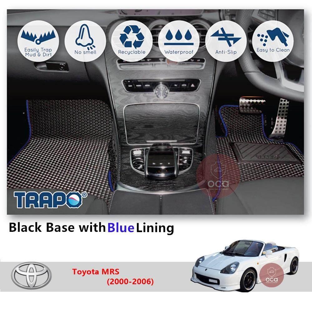 TRAPO Customize Car Floor Mat forToyota MRS (2000-2006)(Black Base with