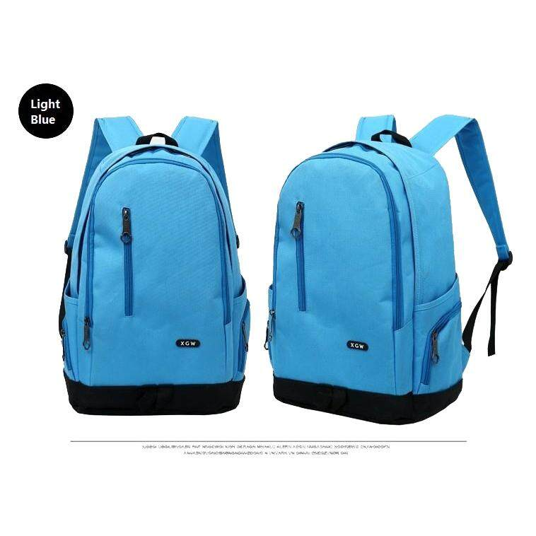 "(Light Blue)15"" XGW Fashion Casual Travel Sport School Gym Nylon Backpack Laptop Bag"