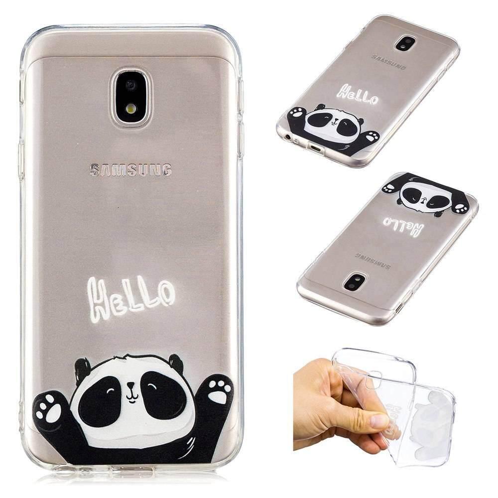 Case untuk Samsung Galaxy J3 PRO 2017 Jelas Lembut Kartun Lucu Desain Pola TPU Penutup Pelindung