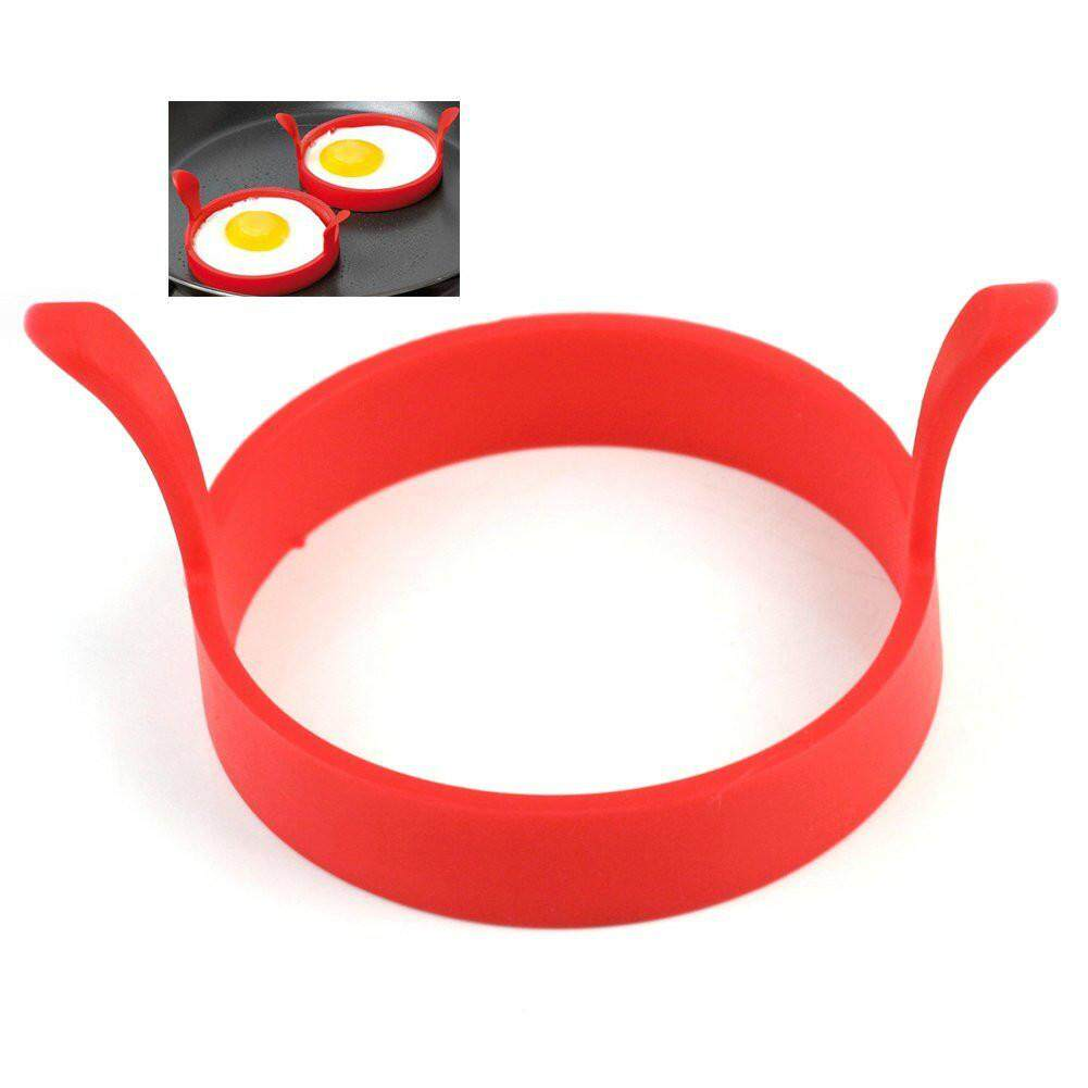 OS Home Restaurant Nonstick Silicone Round Egg Frying Ring Shape Pancakes Fried Egg Cake Maker Mold