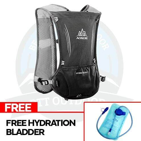 [LOCAL DELIVERY] Aonijie 5L Hydration Bagpack Hydration Bag Outdoor Vest Bag With Multiple Pockets - BLACK