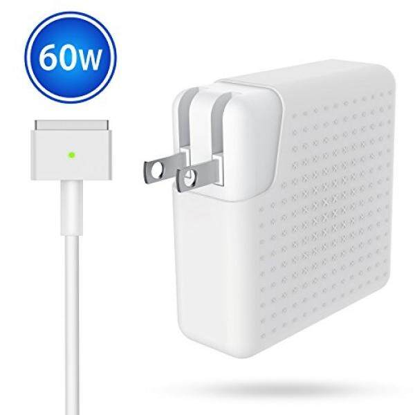 For MacBook Pro Charger, Power Adapter Replacement 60W Magsafe 2 T-Tip MacBook Pro