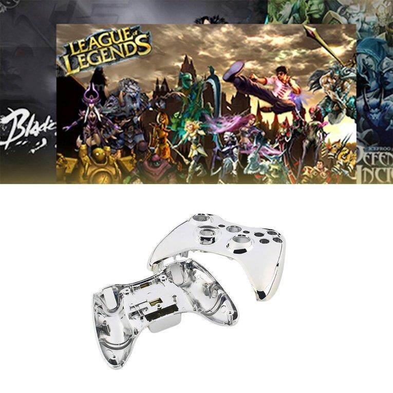 Hình ảnh Chrome Silver modded Full Shell Gold Buttons for Xbox 360 Wireless Controller