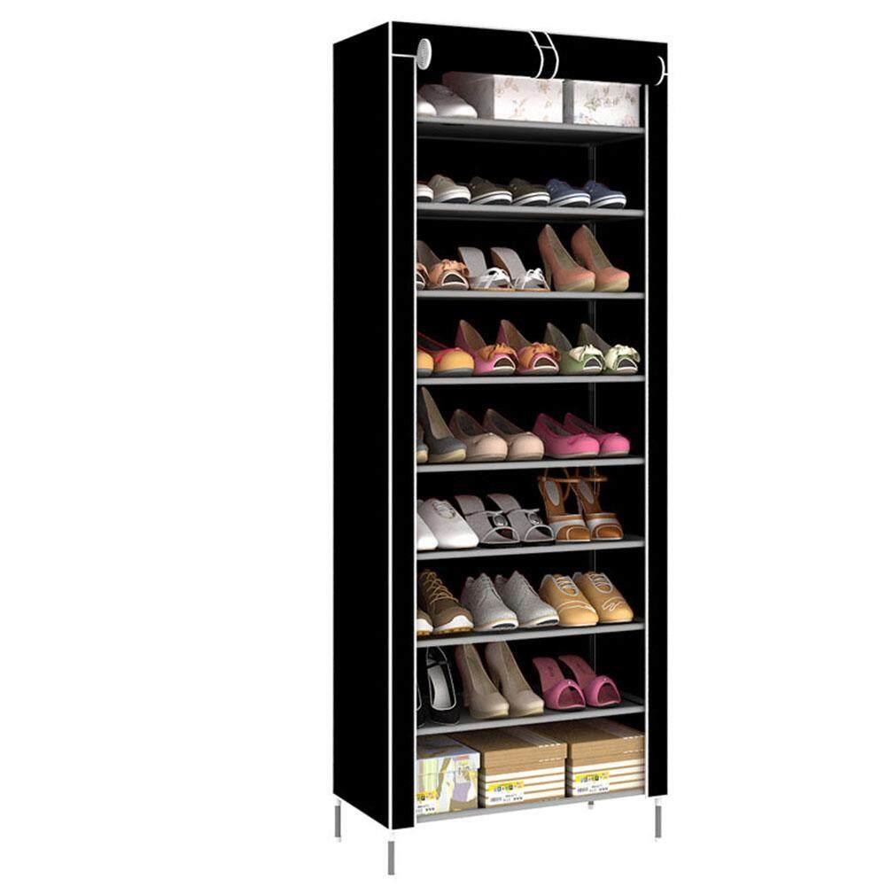 Redcolourful 10 Layers 9 Grids Assembled Integrated Shoe Rack Dustproof Shoe Shelf Simple Shoe Cabinet