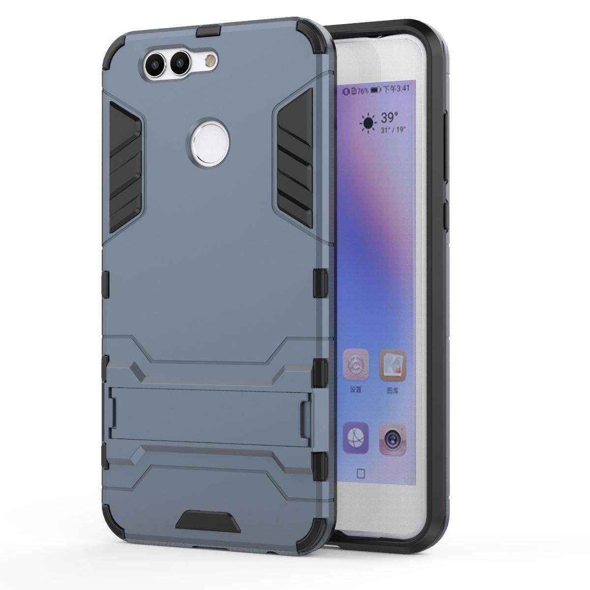 Hình ảnh for Huawei Nova 2 Plus Case 2in1 PC+TPU Hybrid Slim Back Case Ultra Thin Armor Cover, with Kickstand Holder, Glossy, Minimalist, Casual