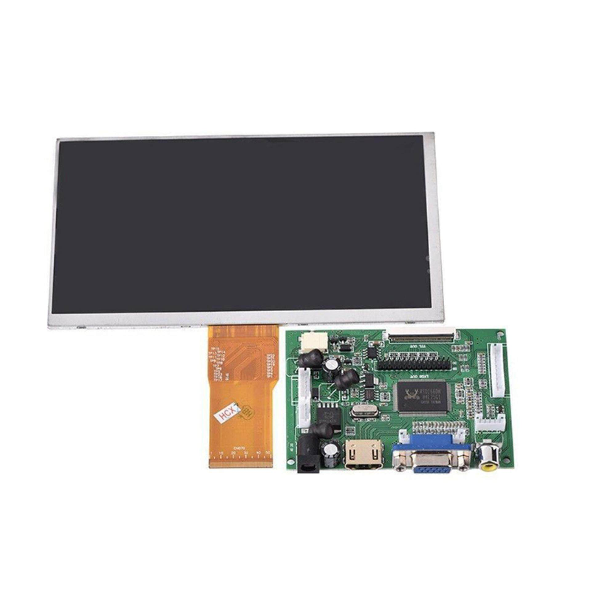 7 Inch LCD Screen Display Monitor For Raspberry Pi + Driver Board HDMI/VGA/2AV + 10 Pins Cable - intl
