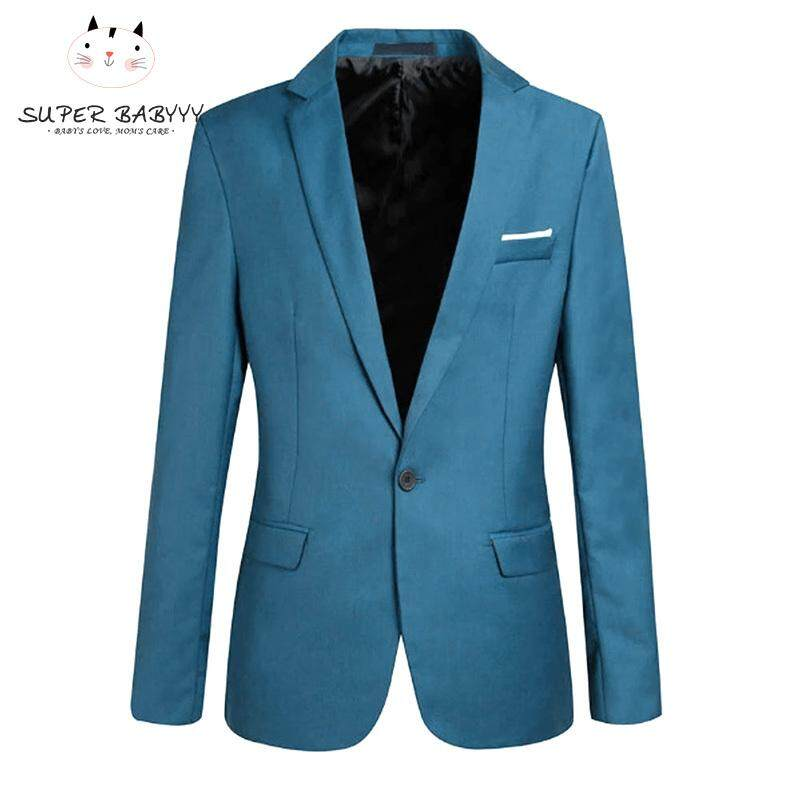 eaab5f00392 SBY Fashion Spring Autumn Men Blazer Long Sleeve Solid Color Slim Man Casual  Thin Suit Jacket