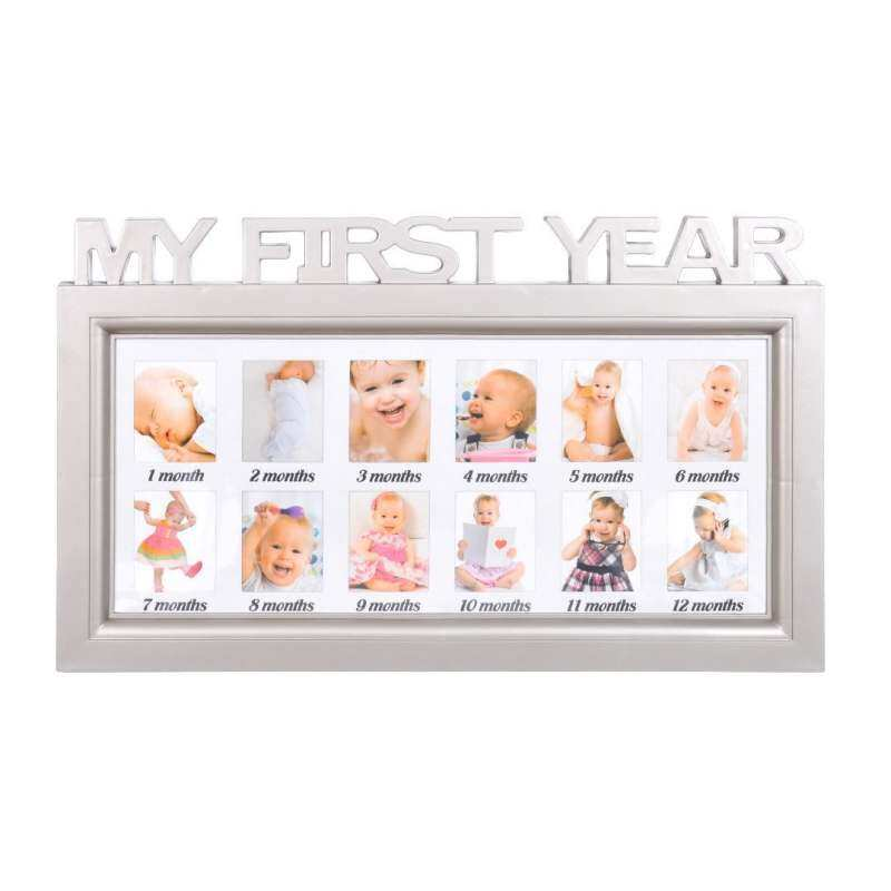 Babys My First Year 1 year old Birthday Milestone Photo Frame - intl