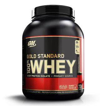 Optimum Nutrition Gold Standard 100% Whey, Delicious Strawberry, 5lbs