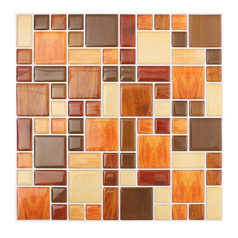 Waterproof Self Adhesive Mosaic Brick 3d Wall Sticker Backsplash Wallpaper For Bathroom Kitchen