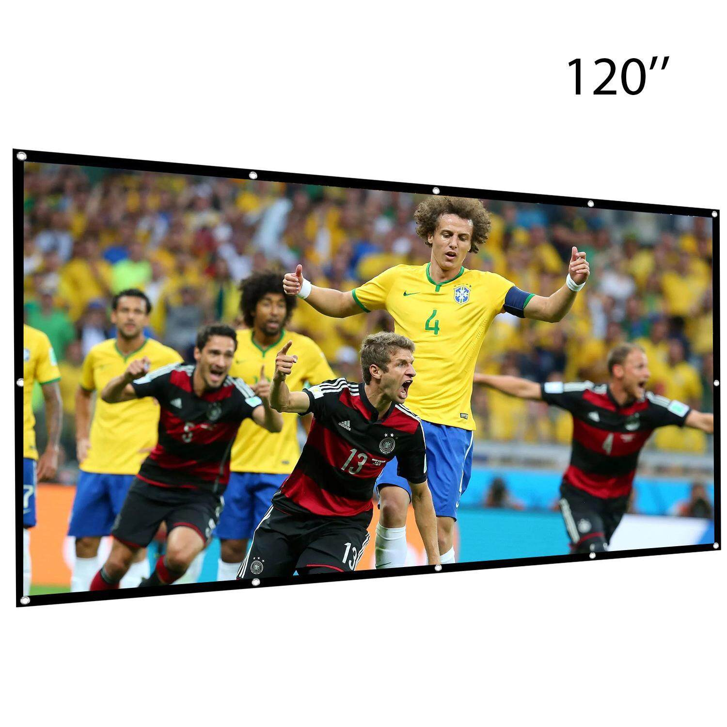 facb0a630516cc Chiants 120 Inch Projection Screen-16:9 HD Portable Projector Movies Screen  Foldable Anti