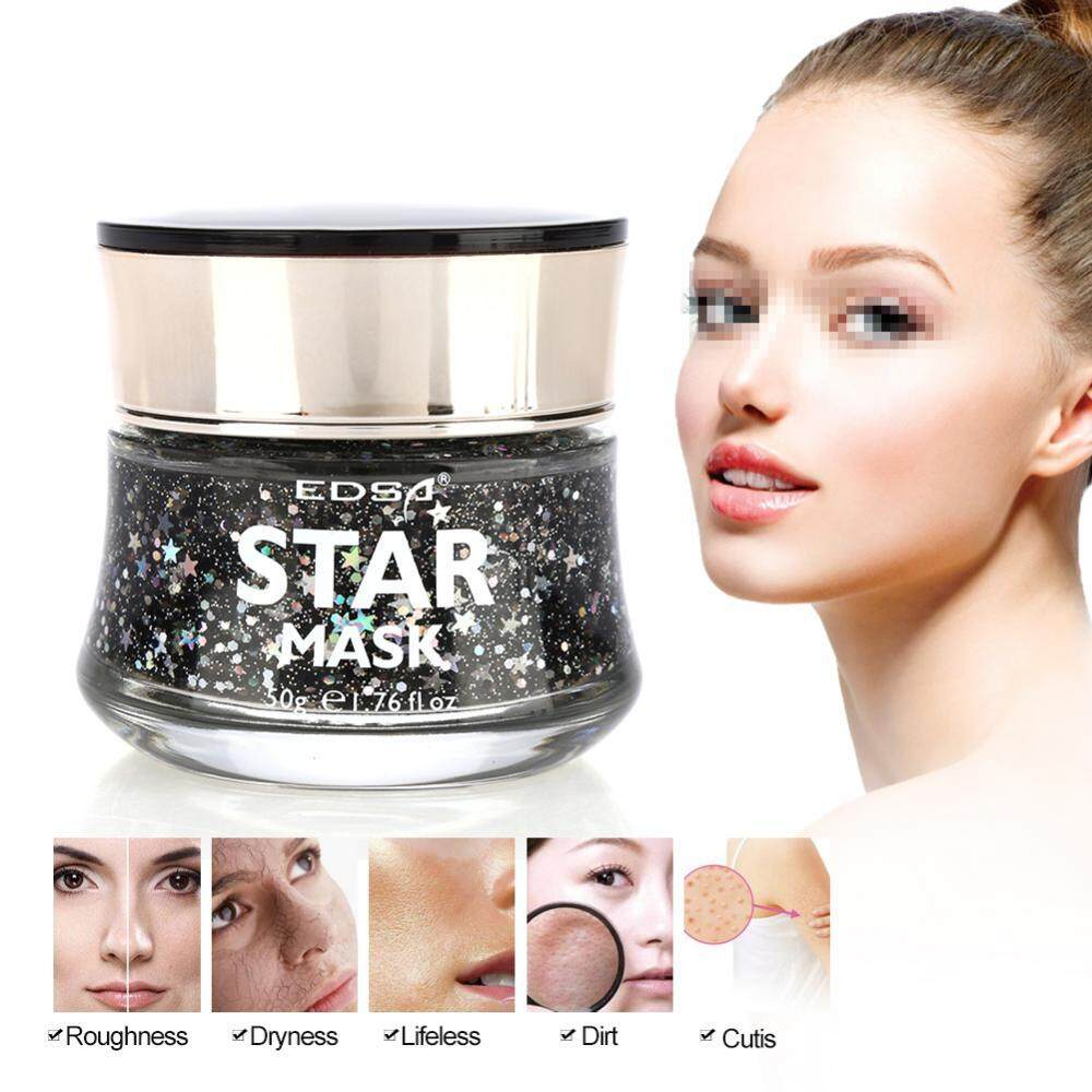 ... Star Mask Starry Sky Glow Glitter Sequin Mask Peel off Moisturizing Mask Facial Skin Care ...