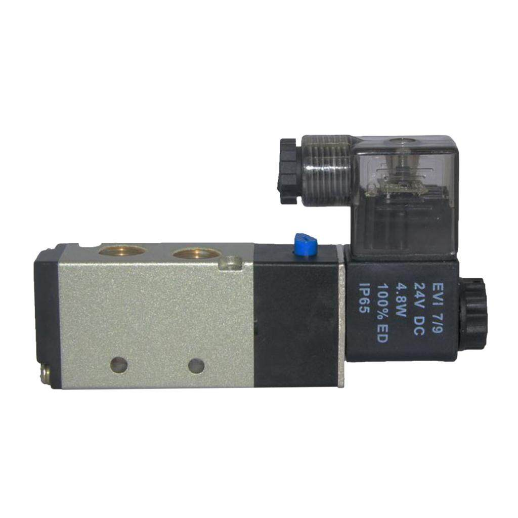 Miracle Shining Dc 24v Solenoid Air Valve Smc 5 Port 2 Position 5/2 Way 1/4 Bspt 4v210-08 Home By Miracle Shining.