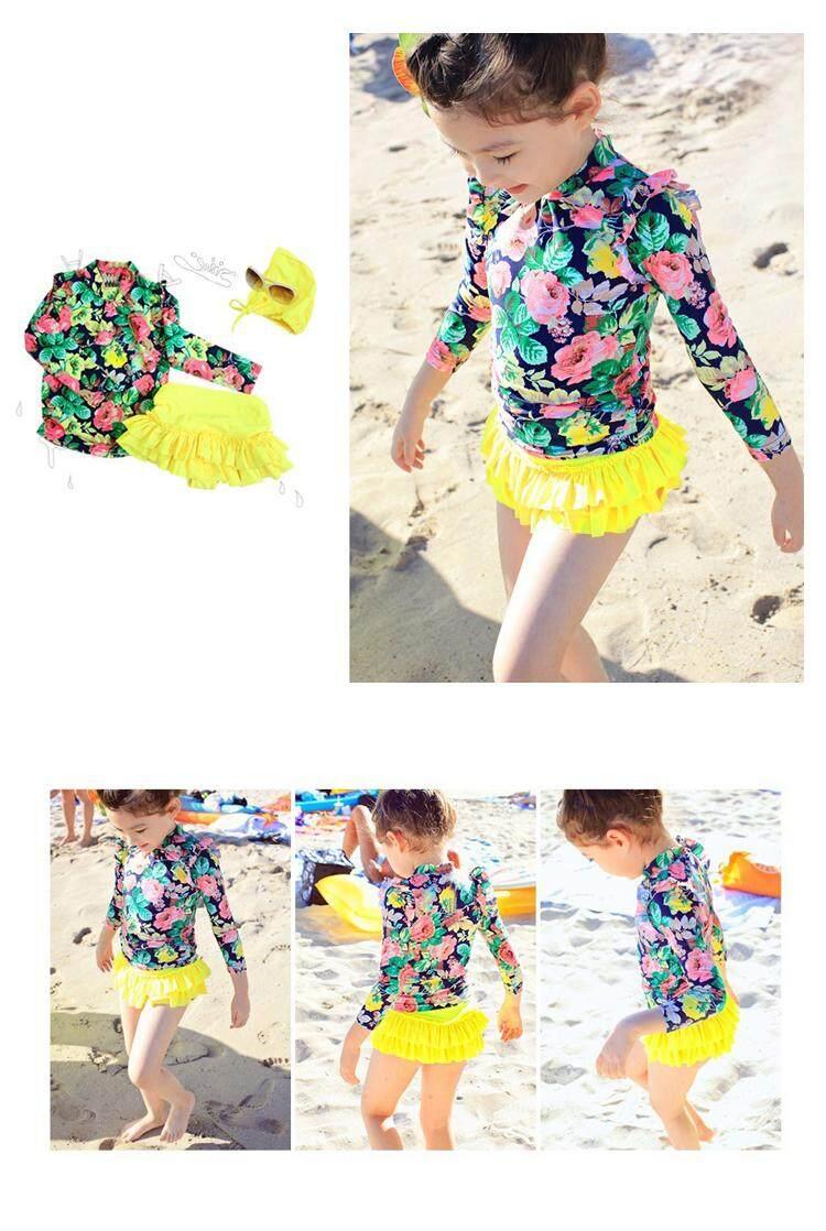 ... Long Sleeve Girl Bathing Suit Baby Swimming Body Quick Dry Swim Suit - 4