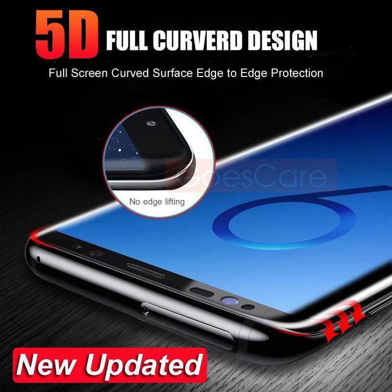 5D Full Curved Tempered Glass For Samsung S8 S9 Plus Screen Protector For Samsung Galaxy Note 9 8 S7 Edge A8 2018 Protective Film