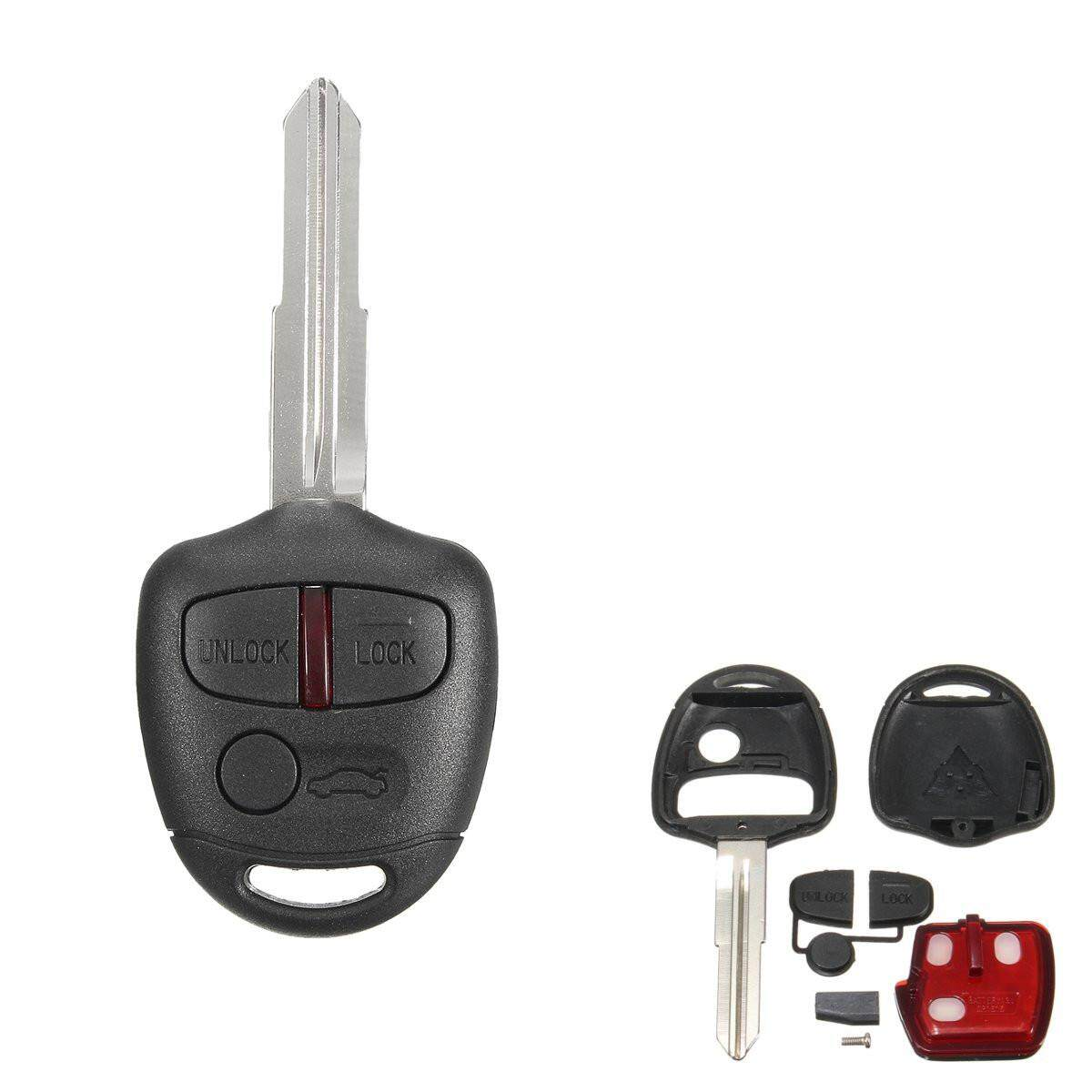 3 Button 433MHz Remote ID46 Chip For Mitsubishi Lancer Outlander Smart Key  Fob