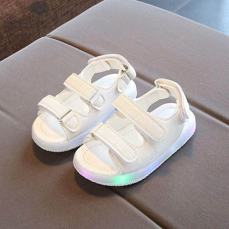 5b18fc1cf9692e Amart Fashion Kids Boys Girls Summer LED Sandals Strappy Light-UpChildren  Luminous Shoes