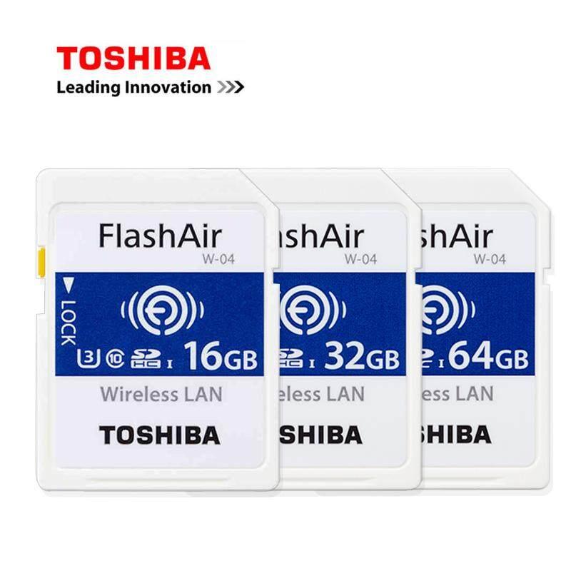 Toshiba Flashair W04 Wireless WIFI SDHC / SDXC Class 10 Memory Card